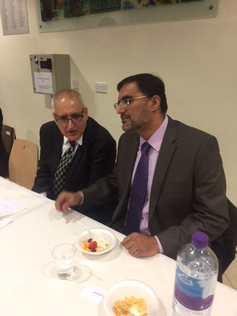 The Chairman Azhar Rasul in conversation with our Guest Speaker
